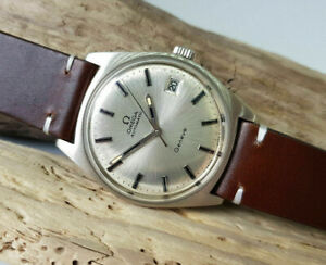USED VINTAGE 1972 OMEGA GENEVE SILVER DIAL DATE AUTO CAL:565 MAN'S WATCH