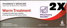 Smash Pharmacy Health Worm Treatment 2x6 12 Tablets Combantrin-1
