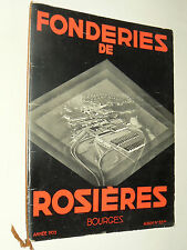 Catalogue FONDERIE ROSIERES BOURGES Poele Chauffage 1935 illustration DRANSY