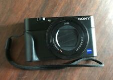 Sony RX100 IV Digital Camera Cracked Back Screen (see pics) Camera Only