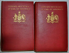THE LIFE OF EDWARD MOUNTAGU K.G. FIRST EARL OF SANDWICH BY F.R. HARRIS *1ST*