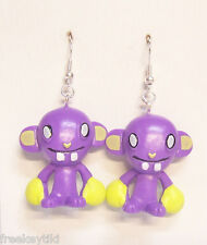 "Harajuku Japan The Gooli Monsters Purple Boxer Mini Art Toys 2"" Dangle Earrings"