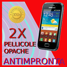 2 Pellicola Per SAMSUNG GALAXY ACE PLUS S7500 Opaca Antimpronta LCD Pellicole