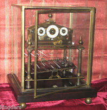 Interesting Congreve Style Brass Rolling Ball Table Clock