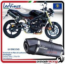 Leovince LV One EVO 2 Terminali scarico carbon Triumph Street Triple 675/R 09>12