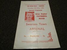 More details for swansea town  v  arsenal  1965/6  brian hughes testimonial ~ may 3rd *free post*