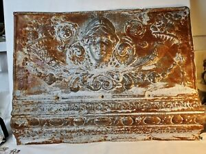 "Antique Art Nouveau Ceiling Tile Very Ornate 24""×18"""