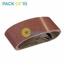 10 Pack 80 Grit 60 x 400mm Sanding Belts Sanders Medium