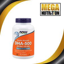 Now foods Dha 500 / Epa 250 Double Résistance 180 Gélule Omega-3 Poisson Huiles
