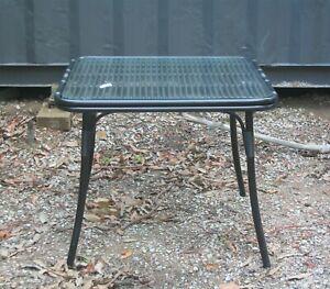 Patio / Balcony Table - Aluminium Frame with Polywicker  (Looks like Rattan)