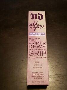 Urban Decay All Nighter Face Primer Dewy Foundation Grip Ultra Glow 1 oz / 30ml