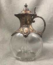 WMF SILVER PLATED CUT GLASS WINE CLARET JUG/PITCHER Germany