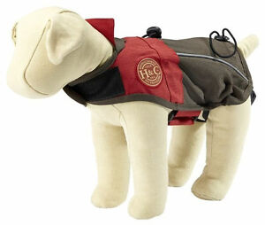 Henry & Clemmie's REFLECTIVE ALL WEATHER JACKET Dog Coat RED Sm-Lrg