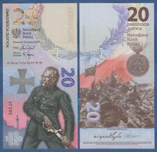 POLEN / POLAND 20 Zlotych 2020  in Folder  UNC  P. NEW