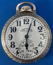 Hour Pocket Watch.Free 3 Day Shipping. Illinois 21Jewels Size16 Bunn Special 60