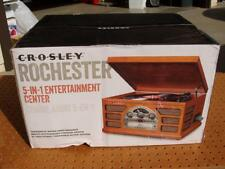 CROSLEY CR66-PA ROCHESTER 5-in-1 ENTERTAINMENT CENTER TURNTABLE CD RADIO ++ NEW