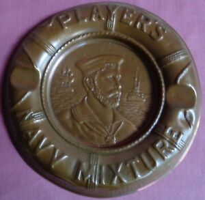WW1 Pub Brewery 1918 Players Navy Mixture Copper Ashtray