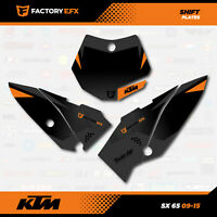 Black/Gray Shift Racing # Number Plate Graphics Kit fits 09-15 KTM 65sx 65 sx