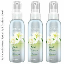 3 x Avon Naturals Scented Spritz Lily & Gardenia Room Body Spray 100ml