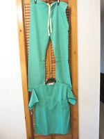 Nursing scrubs set Student Scrubs Lab Scrubs  green S Top S pants Wizard of Oz