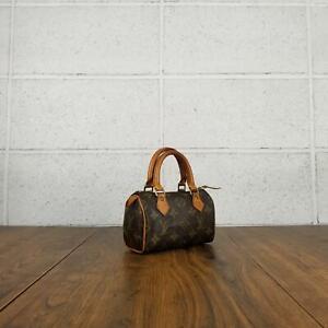 100% Authentic Louis Vuitton Monogram Mini Speedy M41534 Used 4-21
