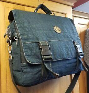 Kipling Large Blue Laptop Messenger Shoulder Bag Work Office Uni Bag