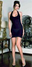 Music Legs Halter Mini Dress 6392 White One Size