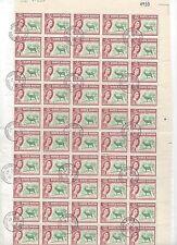 NORTH BORNEO 1963 FIFTEEN KUBAT 27 DEC 63 FULL CANCELS ON SHEET OF 50 QUEEN ISSU