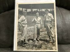 #MISC4040 1943 vintage MLB baseball wire photo - HUGH MULCAHY - JOE GEE