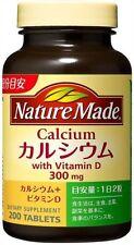 Nature Made Calcium Vitamin D 300 mg 200 Tablets Bone Teeth Health Beauty Japan