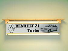 Renault 21 Turbo Bannière Garage Atelier Voiture Affichage