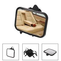 Black Large Wide Easy View Adjustable Back Seat Mirror Baby Child Car Safety