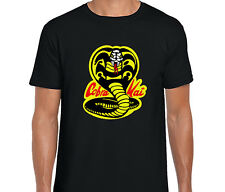 Cobra Kai. Karate Kid. MMA Fight Movie Gym Mens Cotton T-Shirt. Cool. 80's Tee