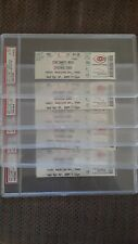 Greg Maddux Chicago Cubs 2004 1st.Start for Cubs Since 1992 5 Full Tickets PSA 8