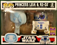 LEIA HOLO / R2-D2 2-PACK Star Wars Funko Pop! 2017 Summer Convention EXCLUSIVE!