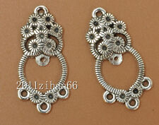 20pcs Tibetan Silver charm Earring Connectors pendants Findings 25MM B3480