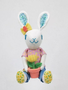 NEW 2021 Small Easter Bunny with Flower Pot Soft Fabric Figurine Spritz Target