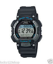 STL-S300H-1A Black Casio Unisex Watches LED Solar Sport Lap memory 100 New 100m