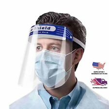 10 Clear Face Shield Protective Covers with Elastic Band Ppe Protective Gear