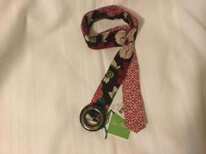 Vera Bradley Reversible Belt Mod Floral Pink Retired NWT