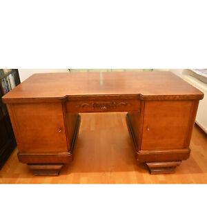 Schreibtisch Holz massiv Eiche antik Vintage