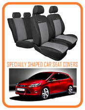 TAILORED SEAT COVERS FOR FORD FOCUS  Mk3 2011 - on  FULL SET grey