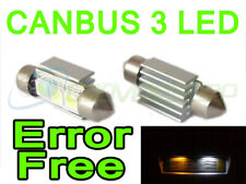 Pair 36mm Canbus Error Free Festoon Xenon White 3 Smd LED Bulbs Lighting Part