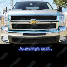 Fits 2007-2010 Chevy Silverado 2500/3500 Black Billet Grille Insert