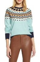 Halogen X Atlantic-Pacific Blue Fair Isle Sweater size XS NWT
