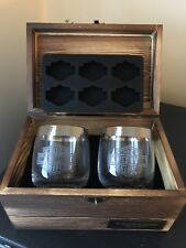 GENUINE HARLEY DAVIDSON CHEERS GIFT SET WOOD BOX GLASS TUMBLER ICE TRAY