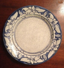 RARE ANTIQUE EARLY 20TH C DEDHAM POTTERY MAGNOLIA BREAKFAST PLATE