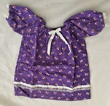 """Purple Flannel Print w Lace 8X12"""" (laying flat) Gown Doll Clothes"""