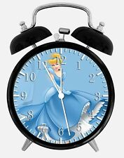 "Disney Cinderella Alarm Desk Clock 3.75"" Home or Office Decor W99 Nice For Gift"