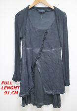 ELISA CAVALETTI LADIES WOMAN DRESS BLUE LONG SLEEVE MARKED SIZE L LENGTH 91 CM